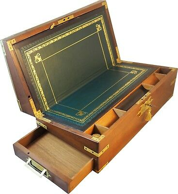 Mahogany campaign writing slope box. Circa 1810