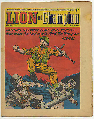 Lion 20th May 1967 (mid-high grade) Robot Archie, The Spider, Don Lawrence art