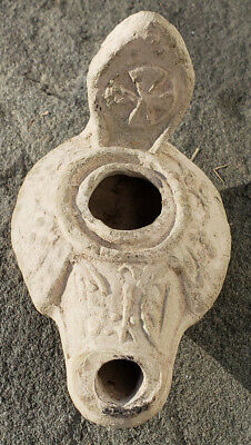 Spectacular Byzantine Christian 4th-5th Century Oil Lamp, #14 from collection