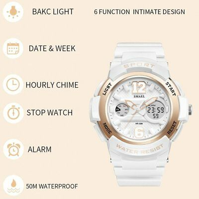 Multifunctional Sports Wristwatch SMAEL Women Wrist Watch Dual Display Watch F5