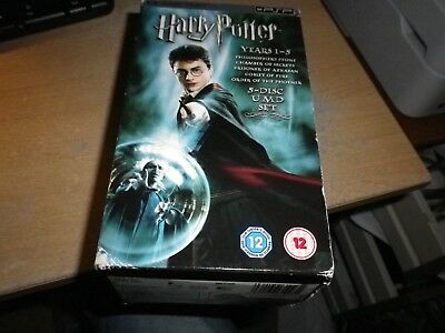 Harry Potter Years 1-5  Psp Umd (Film) Uk Box-Set. Used. Fast Dispatch