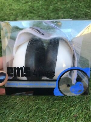 Em's 4 Bubs White Adjustable Infant Baby Hearing Protection Earmuffs Headphones