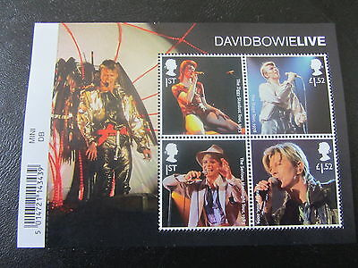 2017 GB DAVID BOWIE 'LIVE' MINIATURE SHEET  With BARCODE U/M