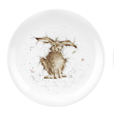 "Wrendale Design Coupe Plate Royal Worcester Fine Bone China 8"" 20cm Hare Brained"