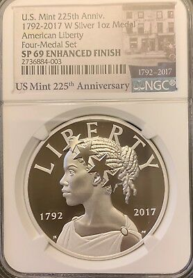 2017 American Liberty W Silver 1 oz Medal SP69 (from 225th Ann. Four-Medal Set)