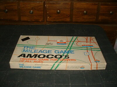 The MILEAGE GAME 1976 AMOCO Gas Motor Club Board Game COMPLETE Cadaco EXCELLENT