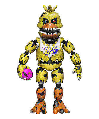 """NEW Five Nights At Freddy's NIGHTMARE CHICA Funko 5"""" Action Figure"""