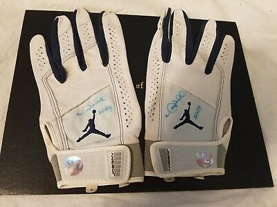cheap for discount 0c5dc 57818 Gary Sheffield 2009 Game Used Autographed New York Mets Jordan Batting  Gloves