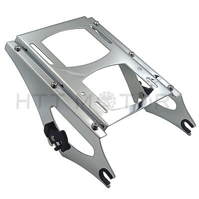 2009-2013 Harley Touring Chrome Detachable Two 2 Up Tour Pak Pack Mounting Rack