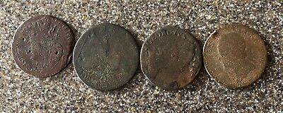 Rare Metal Detecting Finds. 4- Colonial Era Coins 1 Dated 1775, Another 1741- ?