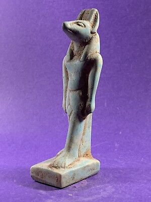 Very Beautiful - Circa 1370-770Bce Ancient Egyptian Anubis  Statuette