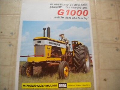 Minneapolis Moline G1000 Tractor Brochure