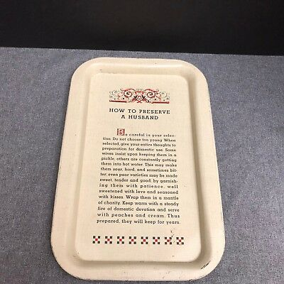 Vintage Ball Canning Company  How to Preserve a Husband Tin Tray