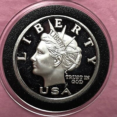 2003 NORFED Liberty Head 1/2 Troy Oz .999 Fine Silver Round Coin Medal Medallion