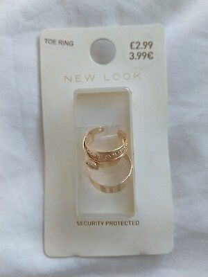 New ,  set of 3 Toe Rings ( New Look)