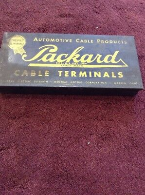 Vintage Packard Cable Terminals Metal Box for Display
