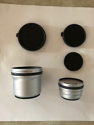 Sony VCL-DEH07V Wide End Conv Lens X0.7, W Lens Cover And Tele End Conv Lens 1.7