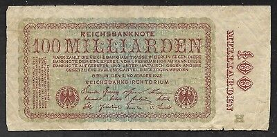 Germany - Old 100 Milliarden Note - 1923 - P133 - FINE