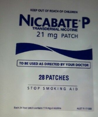 Nicabate P 21 MG Stop Smoking Aid 24HR Release Nicotine  STEP 1   28 PATCHES