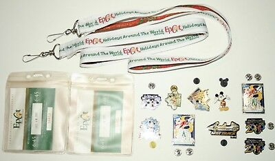 Disney Trading Pins & Lanyards Epcot Holidays Around the World Christmas 2000