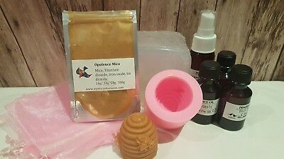 Soap Making Kit - Honey Bee, melt & pour, fragrance, colour - beginners kit