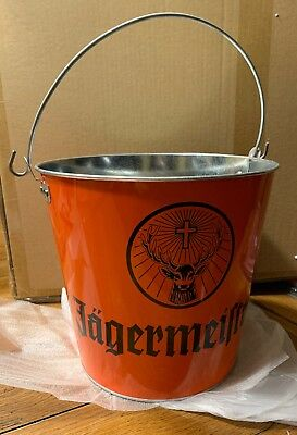 Jagermeister Jager Black Metal Ice Bucket with Handle Free Shipping Best Deal !!
