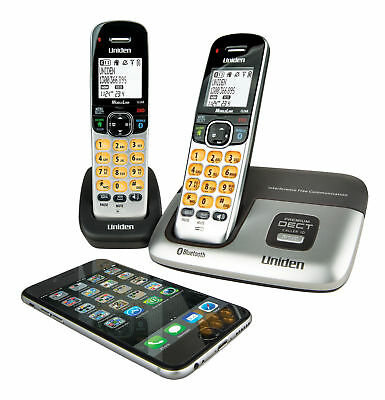 BRAND NEW   UNIDEN 3216+1 DECT Digital Cordless 2 Handsets System with Bluetooth