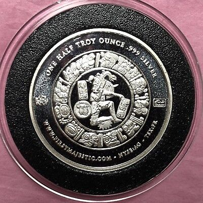 Mayan Calendar First Majestic 1/2 Troy Oz .999 Fine Silver Round Coin Medal 999