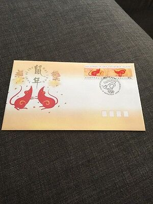 1996 Christmas Island Year Of The Rat Australian FDC