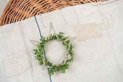 Patched Antique Grain Sack Fabric pillow  Grain Sack from Europe