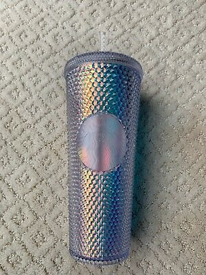 NEW Starbucks 2018 Holiday Iridescent Holographic Diamond Facet 24oz Cold Cup