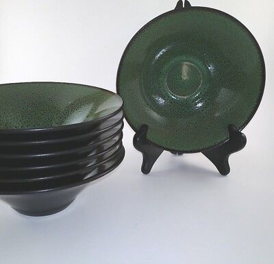 Gabbay Fusion Wasabi Soup Cereal Bowls Set of 7 excellent condition