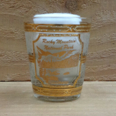 "ROCKY MOUNTAIN NATIONAL PARK - COLORADO - 22k Gold by Culver ""Shot Glass"" orig."
