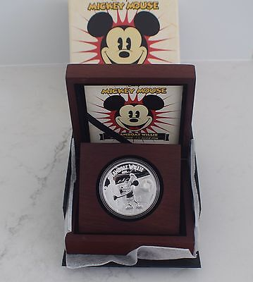 2014 Disney Mickey Mouse Steamboat Willie silver coin