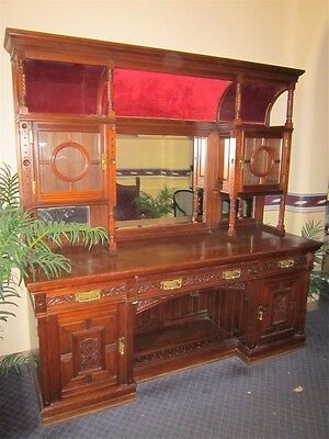 Magnificent  Mahogany Carved  Antique Cabinet. One Of A Kind