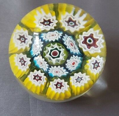 "Gorgeous Murano Glass Millefiori Paperweight Small Egg Oval 2.25"" C"