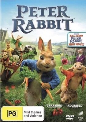 Peter Rabbit (2018) Dvd New & Sealed- Free Postage! Region 4