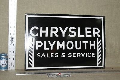 Chrysler Plymouth Porcelain Sign Gas Oil Service Station Garage Cars Trucks