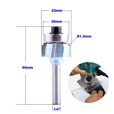 "1pcs 1/4"" Shank Radius 1.5mm Edge Forming 4 Teeth Router Bit Woodworking Cutter"