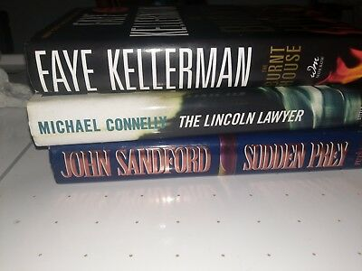 Lot of 3 Mystery Thriller Fiction Hardcover Popular Author Books MIX. Free sh.