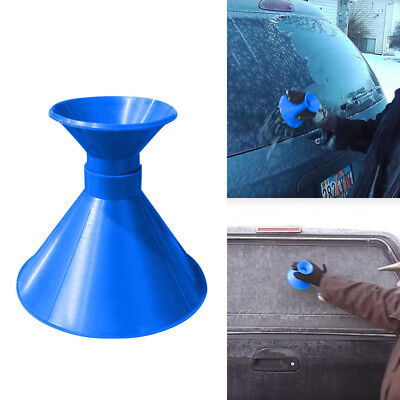 Circular Car Windshield Ice Scraper Tool Outdoor Funnel Remover Snow