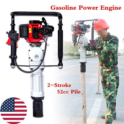 2 Stroke Air Cooling Gasoline Post Drive 52cc Gas Power Driver Push Pile Engine