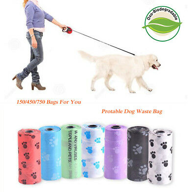 DOG PET WASTE POOP BAGS PICK UP YOUR COLOR REFILL ROLLS With FREE DISPENSER