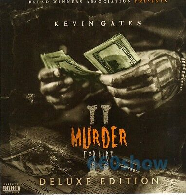 """Kevin Gates - """"Murder For Hire 2- Deluxe Edition"""" (Official Mixtape) Mix Cd"""