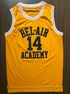 The Fresh Prince of Bel Air Academy Will Smith 14 Men's Basketball Jersey Yellow