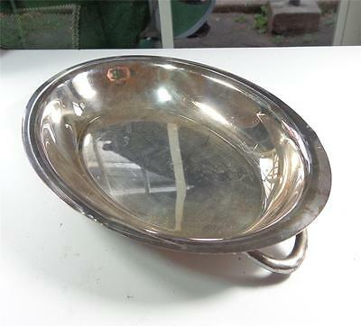 Post 1940 Silver Plated 10 1/4 Serving Bowl Or Tray With Handles, Candy Dish