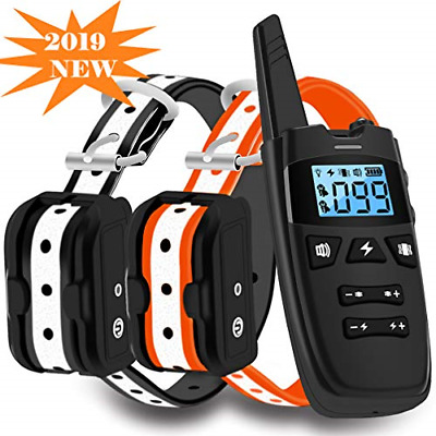 WDFZONE Dog Training Collar W Remote For 2 Dogs Waterproof Rechargeable Shock SM