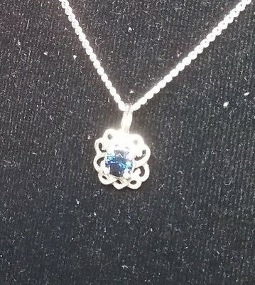 Anakie Gemfields Facetted Blue Sapphire Pendant