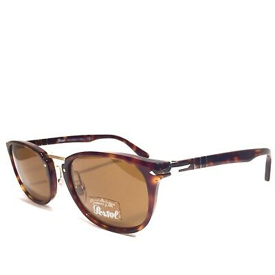 5ba5c2ff0867d PERSOL 3127 24 57 Brown Tortoise Gold Silver Polarized Sunglasses (MSRP   320)