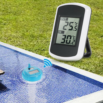 Wireless Remote Floating Thermometer Swimming Pool Waterproof Pond Spa NEW